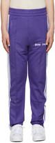 Palm Angels Purple Logo Track Pants
