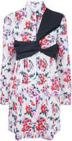 MSGM strap detail floral print dress