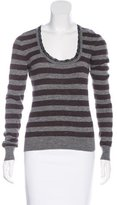 Dolce & Gabbana Lace-Trimmed Striped Sweater