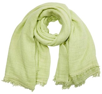Free People Sun Washed Travel Scarf (Pistachio) Scarves
