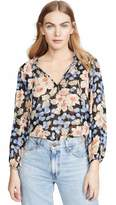 Rebecca Taylor Women's Long Sleeve Floral Blouse