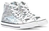 Converse Silver Sequin Chuck Taylor All Star Hi-Tops