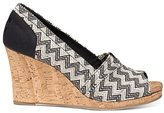 Toms Women's Classic Wedge Woven Cork Ankle-High Fabric Sandal - 6M