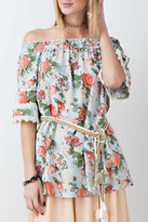 Easel Blue Floral Tunic