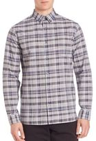 Vince Multi-Plaid Woven Button-Down Shirt