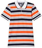 Timberland Orange and Navy Stripe Polo