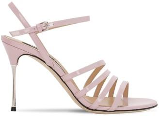 Sergio Rossi 90mm Godiva Still Patent Leather Sandals