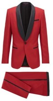 HUGO BOSS - Slim Fit Tuxedo With Silk Trims And Pocket Square - Red