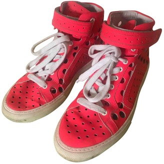 Pierre Hardy Pink Leather Trainers