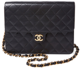 Chanel Vintage Black Quilted Lambskin Flap Square