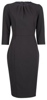 Dorothy Perkins Womens Black High Neck Tailored Pencil Dress, Black