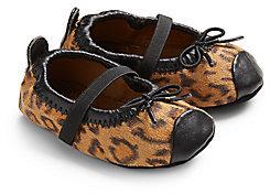 Stuart Weitzman Infant's Chippy 2 Leopard Ballet Flats
