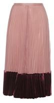Valentino Silk and velvet pleated skirt