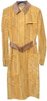 Fendi Yellow Leather Coats