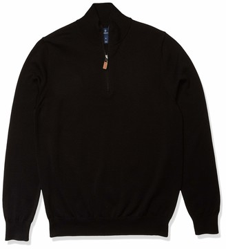 Buttoned Down Amazon Brand Men's 100% Supima Cotton Quarter-Zip Sweater