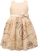 Jayne Copeland Blush Embroidered Floral Sleeveless Dress - Toddler & Girls