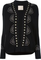 Laneus studded detail cardigan