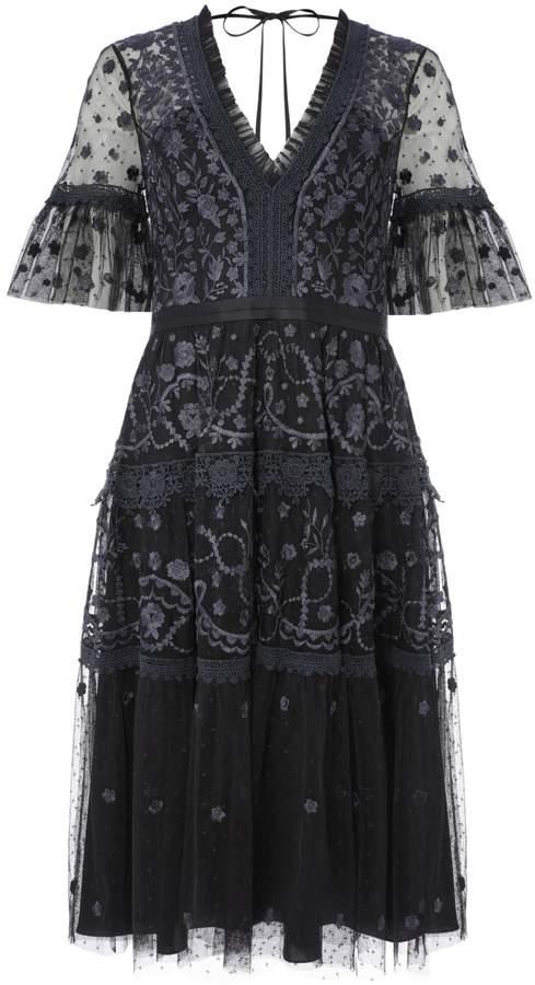 Needle & Thread Floral Lace A-Line Dress
