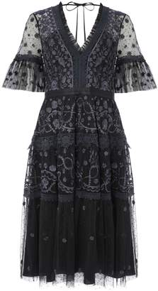 Needle & Thread Floral Lace A-Line Dress