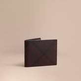 Burberry London Check Bifold Wallet, Red