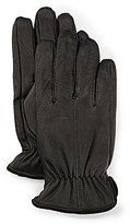 Roundtree & Yorke Murano Suede-Trimmed Deerskin Leather Gloves