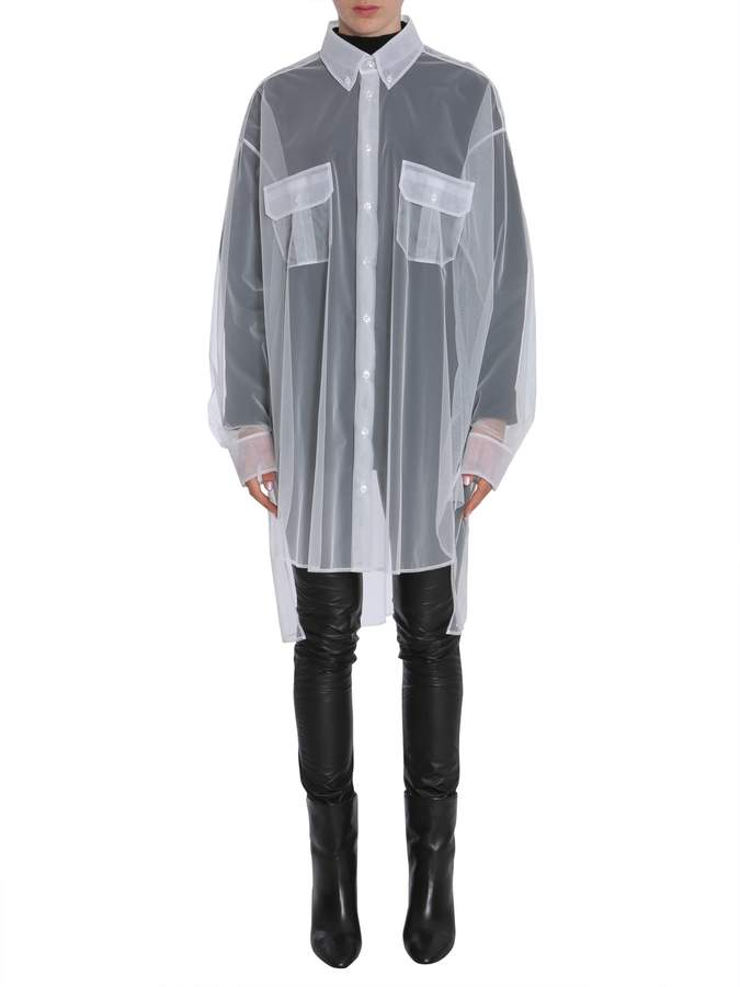 Maison Margiela Long Tulle Shirt