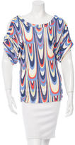 M Missoni Printed Short Sleeve Top