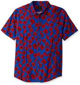 RVCA Men's Peace Poppy Short Sleeve Woven Button Front Shirt