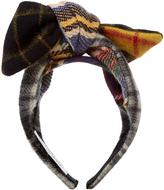 Benoit Missolin Camila tartan-bow wool headband