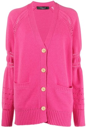 Versace Open-Knit Detail Cardigan