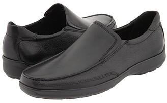 Bostonian Jolliet (Black/Black Tumbled) Men's Slip on Shoes
