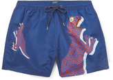 Paul Smith Mid-Length Dinosaur-Print Swim Shorts