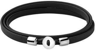 Miansai Nexus Sterling Silver & Leather Wrap Bracelet