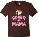 Women's CUTE BOXER MAMA T-SHIRT Dog Lovers Pet Owners Gift Small