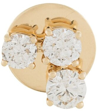 Alinka 18kt yellow gold EVA diamond single stud