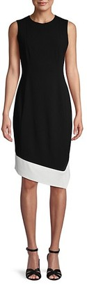 Calvin Klein Asymmetrical Hem Sheath Dress