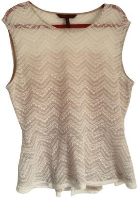 BCBGMAXAZRIA White Lace Top for Women