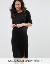 Asos PETITE Curved Hem Dress with Half Sleeve