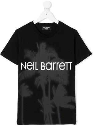 Neil Barrett Kids logo print T-shirt