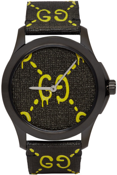 Gucci Black and Yellow G-Timeless GucciGhost Watch