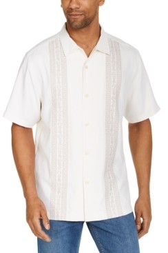 Tommy Bahama Men's Pineapple Row Classic-Fit Embroidered Silk Camp Shirt