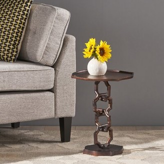 Kylie Modern Aluminum Accent Table World Menagerie