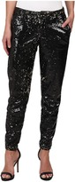 CJ by Cookie Johnson Prominent Ankle Trouser w/ Sequin Fabric in Black/Bronze