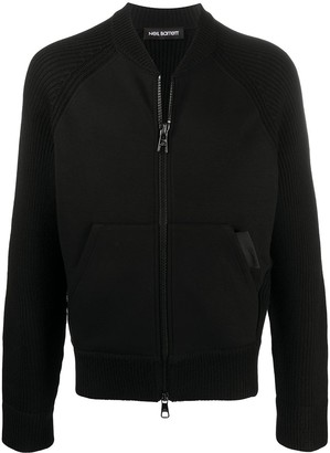 Neil Barrett Knitted Zip Front Cardigan