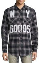 PRPS Trend Graphic Printed Flannel Shirt