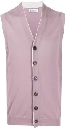 Brunello Cucinelli fine knit buttoned waistcoat