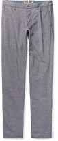 Incotex Slim-Fit Gingham Linen and Cotton-Blend Trousers