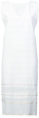 Lemlem Kelali frayed V-neck dress