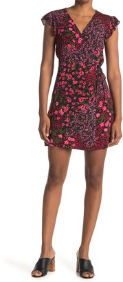 Elodie K Floral Cap Sleeve Mini Dress