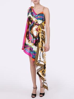 Versace Silk Multi-print Dress